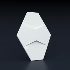 Гипсовая 3D панель Четырехлистник